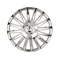 1 Pcs 15 Car Wheel Trims Hub Caps Plastic Covers Universal Bright Silver