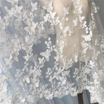 Mariposa Falda Encaje Vestido De Tul Tela Bordado Novia Material 9WDH2EI
