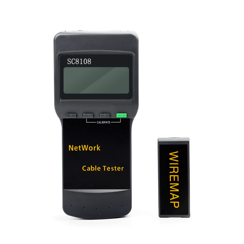 RJ45 SC8108 Portable LCD Network Tester Meter&LAN Phone Cable Tester With LCD Display Free Shipping