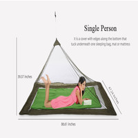 Ultralight Outdoor Travel Large Camping Tent 1-2 Person Inner Tent Lightweight Compact Tent Mosquito Net Mesh Camping Equipment