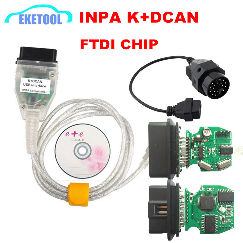 INPA K+D CAN for BMW FTDI FT232RQ OBD OBD2 Diagnostic Cable