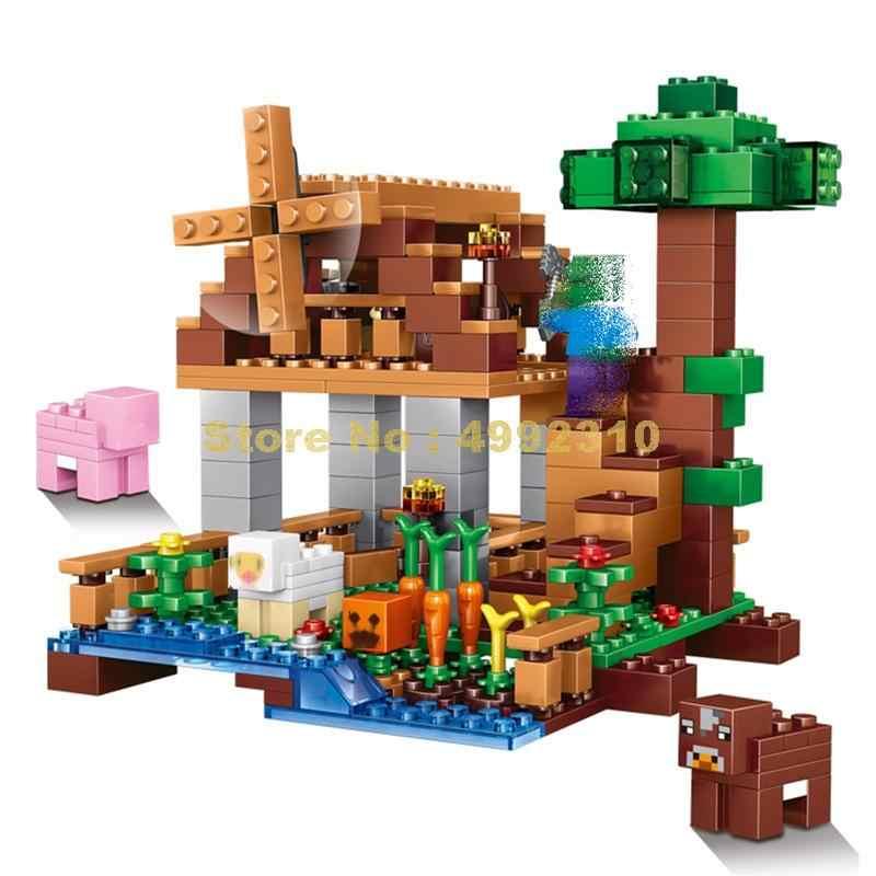 79289 de 314 Uds mi mundo el Rancho pastos molino bloques de construcción Lele ladrillos de juguete