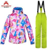 Профессиональный женщин лыжная куртка комплект водоотталкивающая ткань женский зимний костюм теплый ветрозащитный и дышащий сноуборд оде