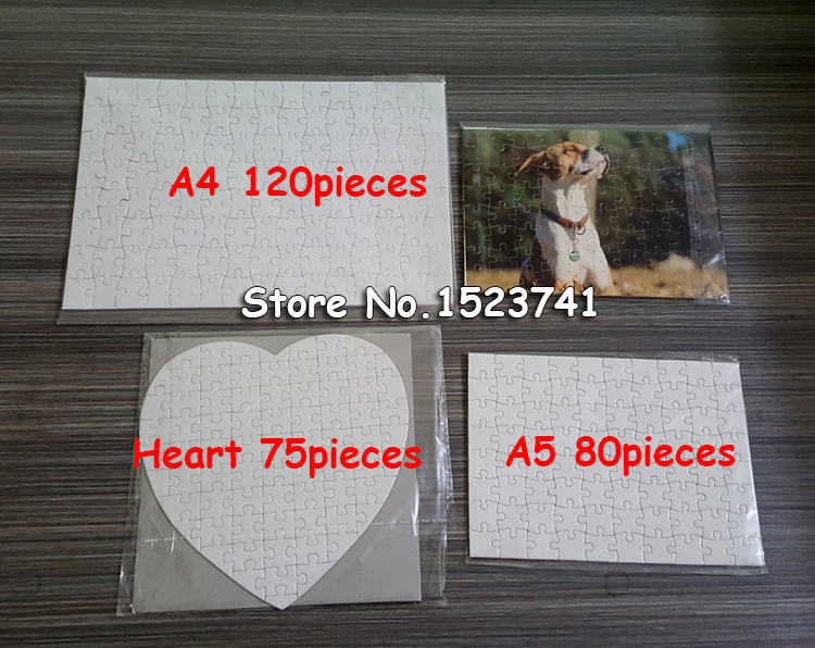 10x A5 A4  For Heat Press Machine DIY Blank Dye Sublimation Printable Jigsaw Puzzle Unique Gift For Heat Press Transfer Paper