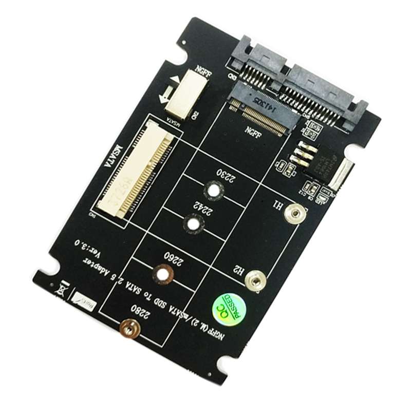 2 in 1 M.2 NGFF B Key Mini PCI-E mSATA SSD <font><b>to</b></font> <font><b>SATA</b></font> 2.5