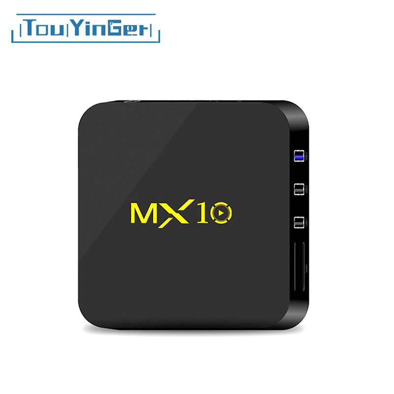 Touyinger Top-Box MX10 Media-Player WIFI Quad-Core Android RK3328 Emmc 4GB/32GB Usb3.0set