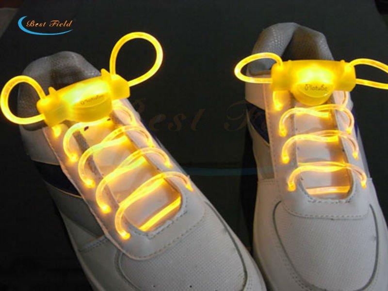Бесплатная доставка 2 шт./1 пара <font><b>LED</b></font> Шнурки мигающей подсветкой палке на плоской подошве Шнурки дискотеку для Аксессуары для обуви