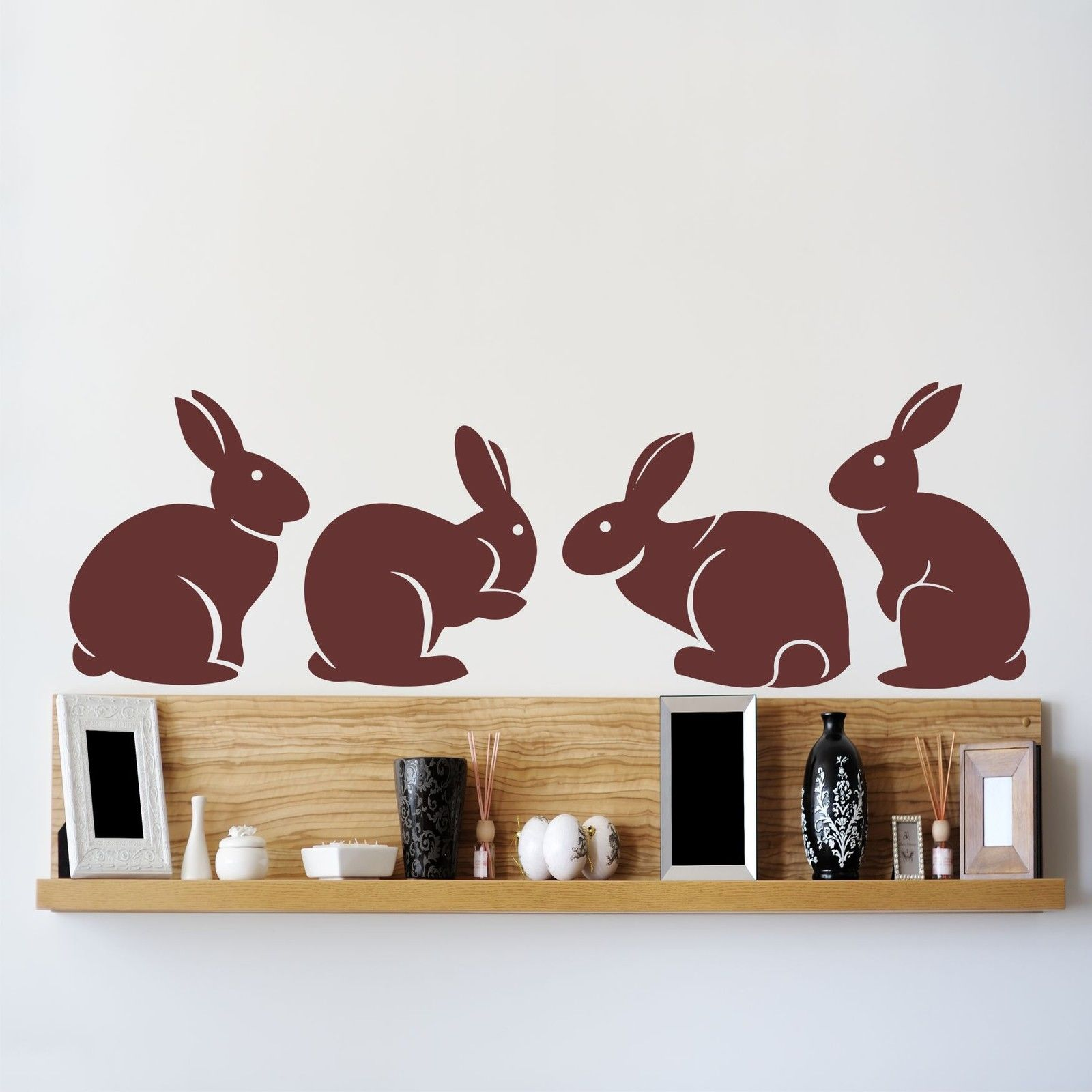 A007 Cute Bunny Rabbits Wall Sticker Baby Nursery Rabbitits Wall - Տնային դեկոր - Լուսանկար 2