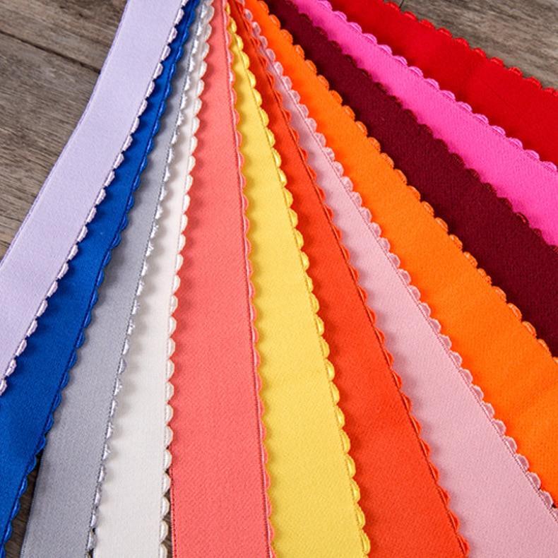 Black White Red 10mm Lingerie Elastic Polyester Picot Edge Elastic Bands For Finishing Bra Band Edges 5yards/lot
