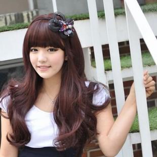 Wig scroll fluffy long women's kinkiness girls wig