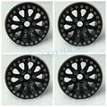 4pcs/lot CNC Alloy 1.9inch Beadlock Wheel Rim For SCX10 CC01 F350 D90 RC4WD High Quality