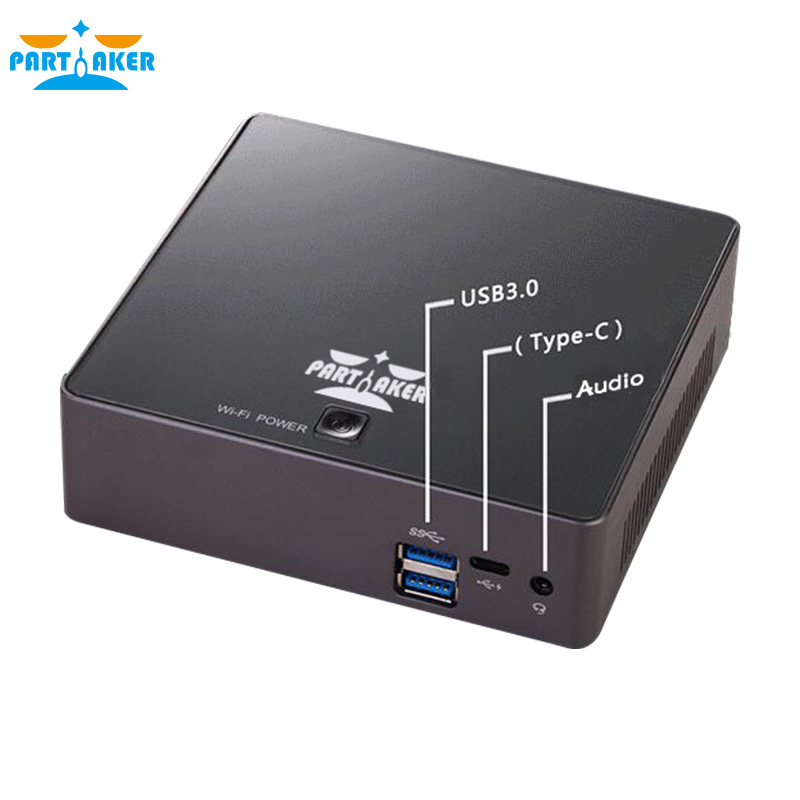 Partaker B3 DDR4 Mini PC 8th Gen Intel Core i7 8500U Quad Core HDMI Type-c цены