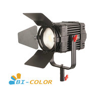 1 Pc CAME TV Boltzen 100w פרנל Fanless Focusable LED דו צבע Led וידאו אור