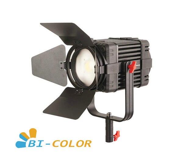 1 Pc CAME TV Boltzen 100w Fresnel Fanless Focusable LED Bi Color Led video light