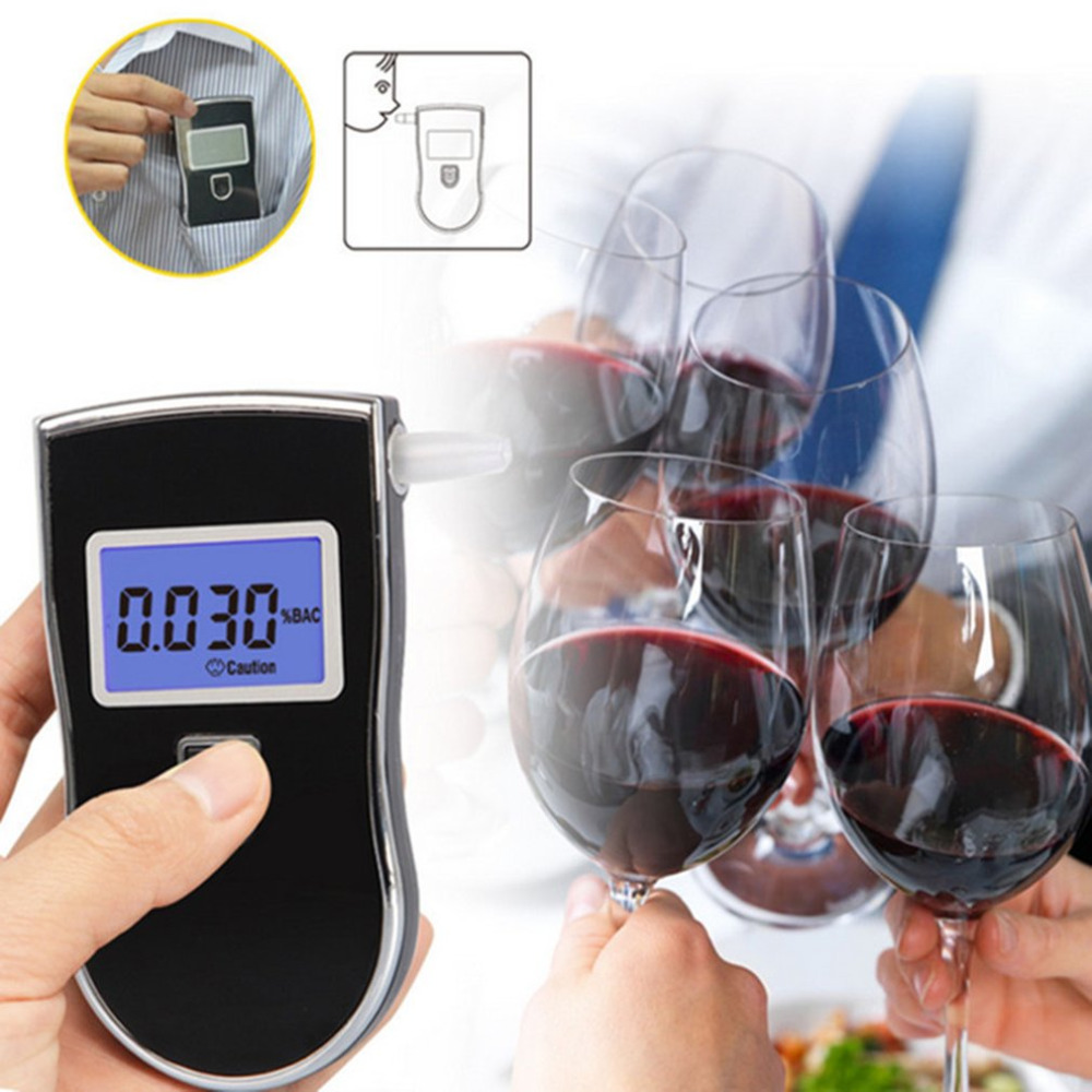 New Mini Police Alcohol Tester Portable Professional Police Digital Breath  Alcohol Tester Breathalyzer