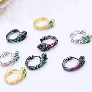Image 1 - Einfache Mode Einzigartige Kreative Schlange Ohrringe Kleine Und Exquisite Lustige Tiere Ohrringe Für Frauen ZK40