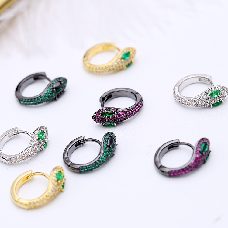 Simple Fashion Unique Creative Snake Earrings Small And Exquisite Funny Animals Earrings For Women ZK40-in Drop Earrings from Jewelry & Accessories
