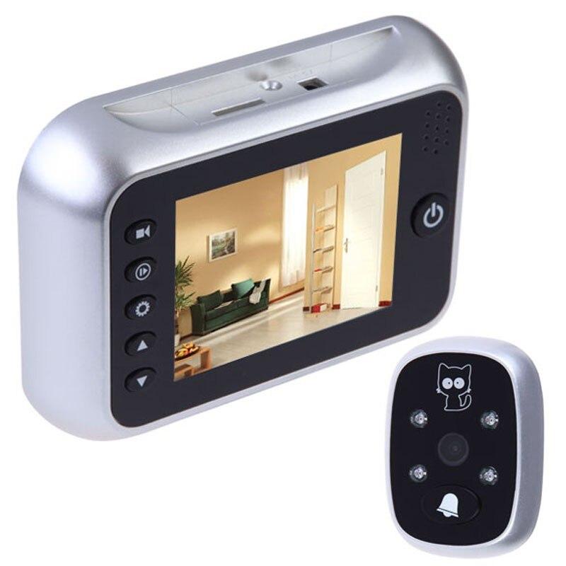 ФОТО Russian Menu door peephole video eye 3.5inch IR Night vision 3X Zoom Photos Taking+Video Recording 32Rings door camera Max 32G