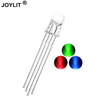Wholesale 1000pcs/lot led 4 pin common anode RGB three-color transparent controllable legs bright colorful lights LED 5mm rgb