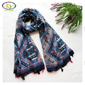 180*100cm 1PC 2016 Fall New Design Viscose Cotton Women Long Scarf Woman Voile Tassels Thin Shawls Pashminas
