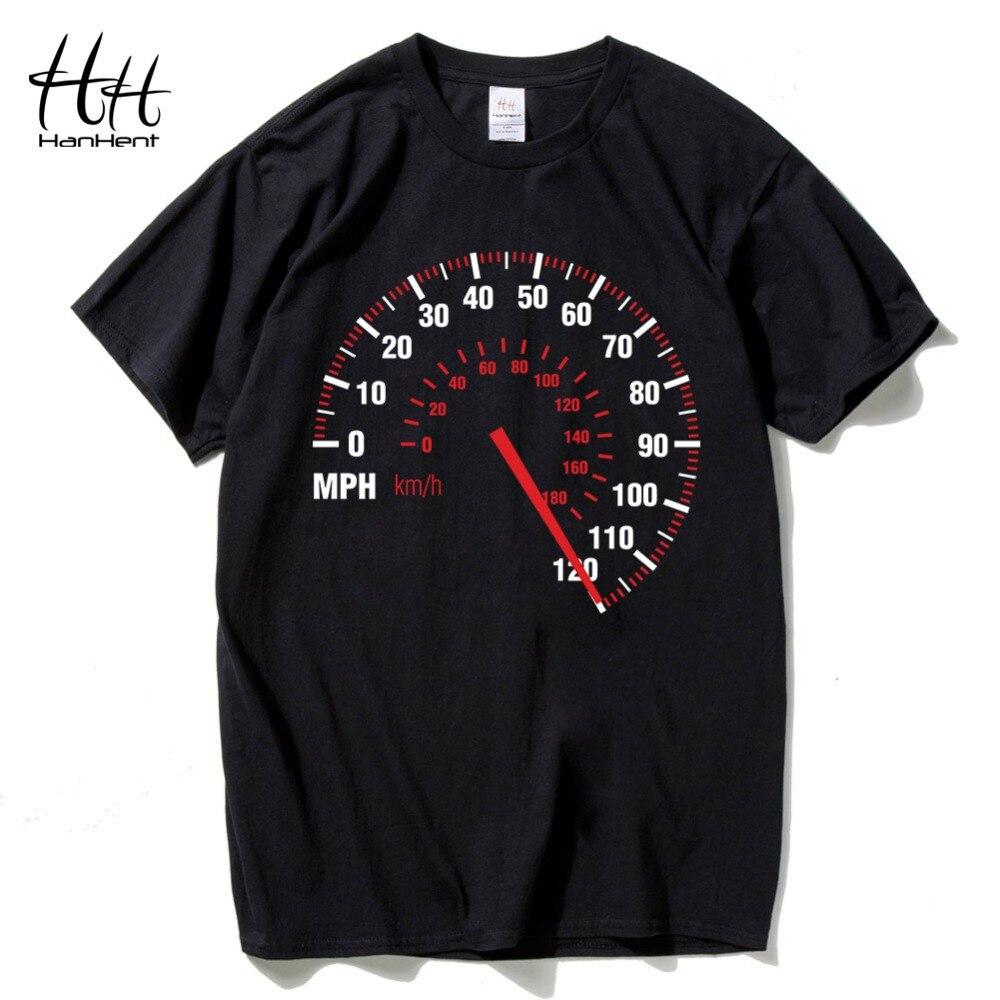 Design t shirt price - Hanhent Speedometer Fashion T Shirt Men Cotton Summer Car Speed T Shirt Black Creative Design