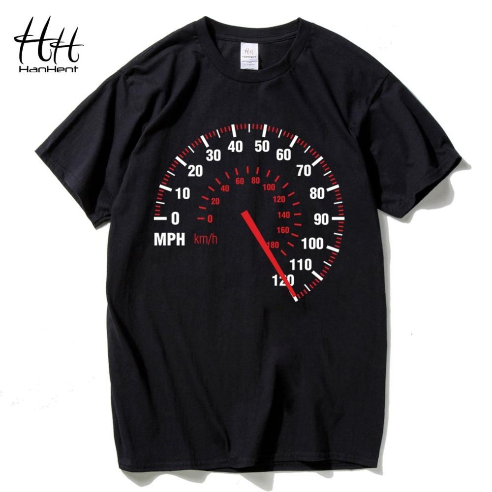 Design t shirt buy - Hanhent Speedometer Fashion T Shirt Men Cotton Summer Car Speed T Shirt Black Creative Design