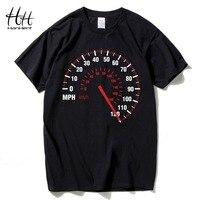 HanHent Speedometer Fashion T Shirt Men Custom Pattern Man Cotton Fashion Car Speed Dial Print T