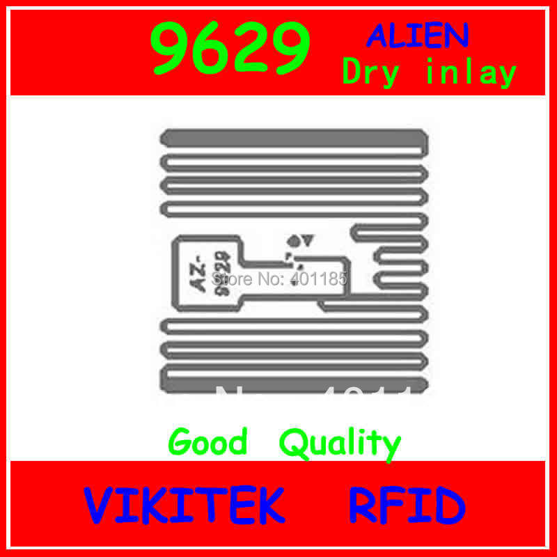 Alien authoried 9629 UHF RFID dry inlay 860-960MHZ Higgs3 915M EPC C1G2 ISO18000-6C can be used to RFID tag and label