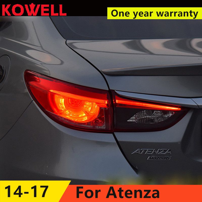 KOWELL Car Styling forMazda6 <font><b>Tail</b></font> <font><b>Lights</b></font> 2015 New <font><b>Mazda</b></font> <font><b>6</b></font> Atenza <font><b>LED</b></font> <font><b>Tail</b></font> <font><b>Light</b></font> Orignal Design <font><b>LED</b></font> Rear Lamp DRL+Brake+Park+Sign image