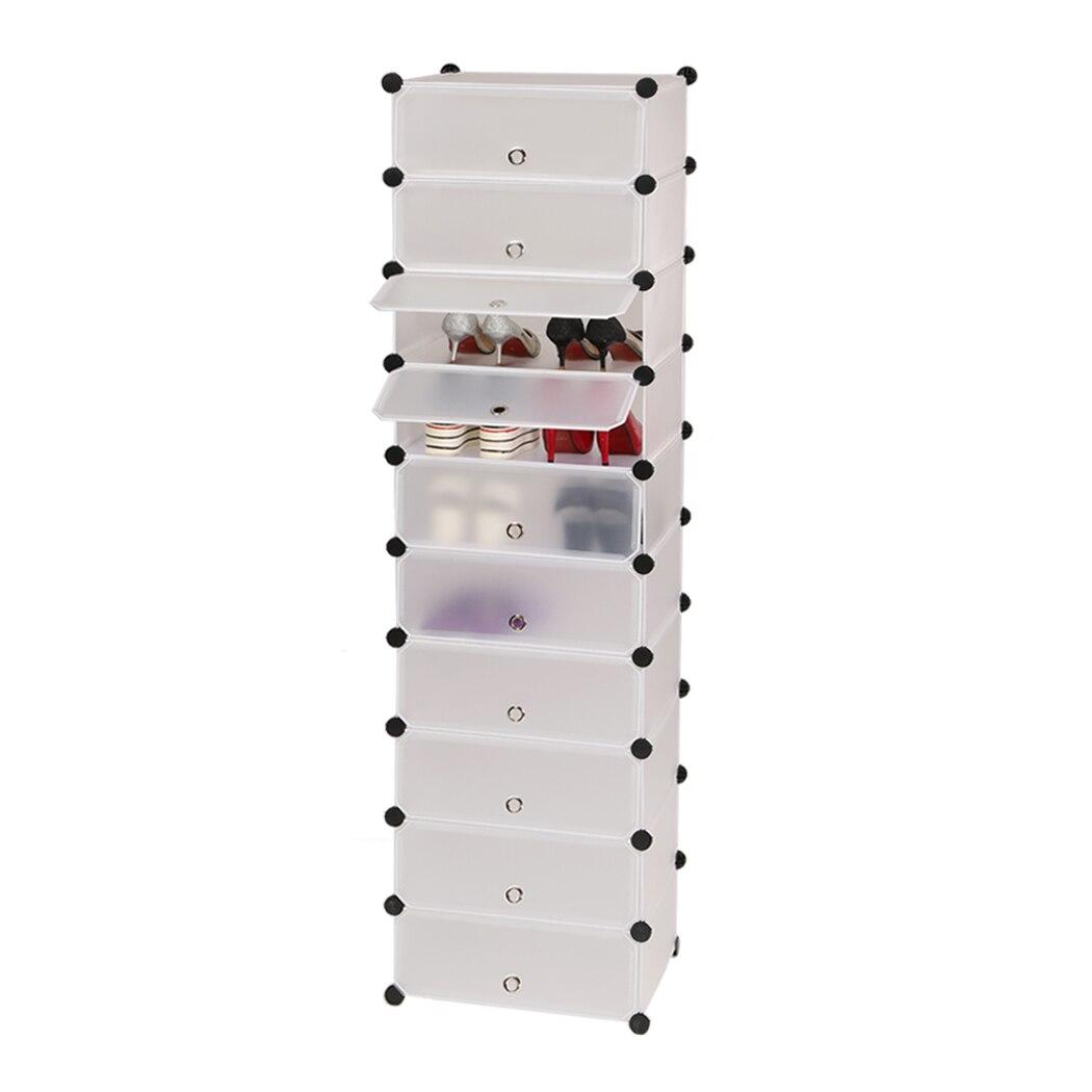 Homdox 10 niveaux meuble à chaussure espace économie 0HN4JaKuP