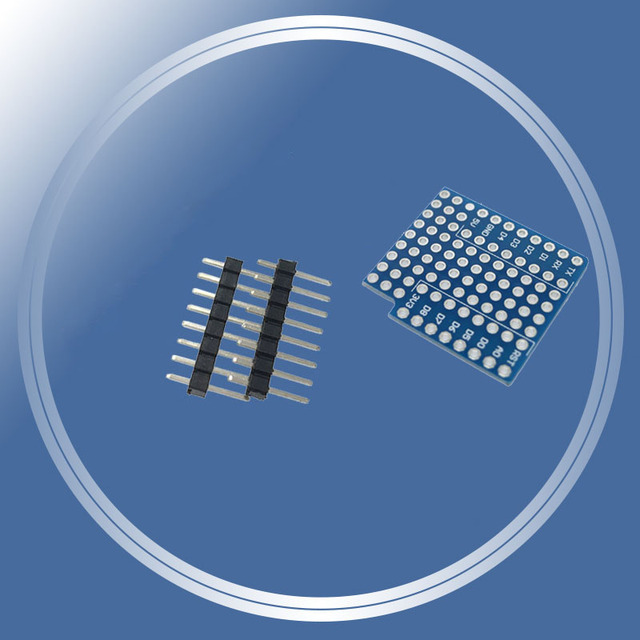 ProtoBoard Schild für WeMos D1 mini doppelseitig perf board Kompatibel