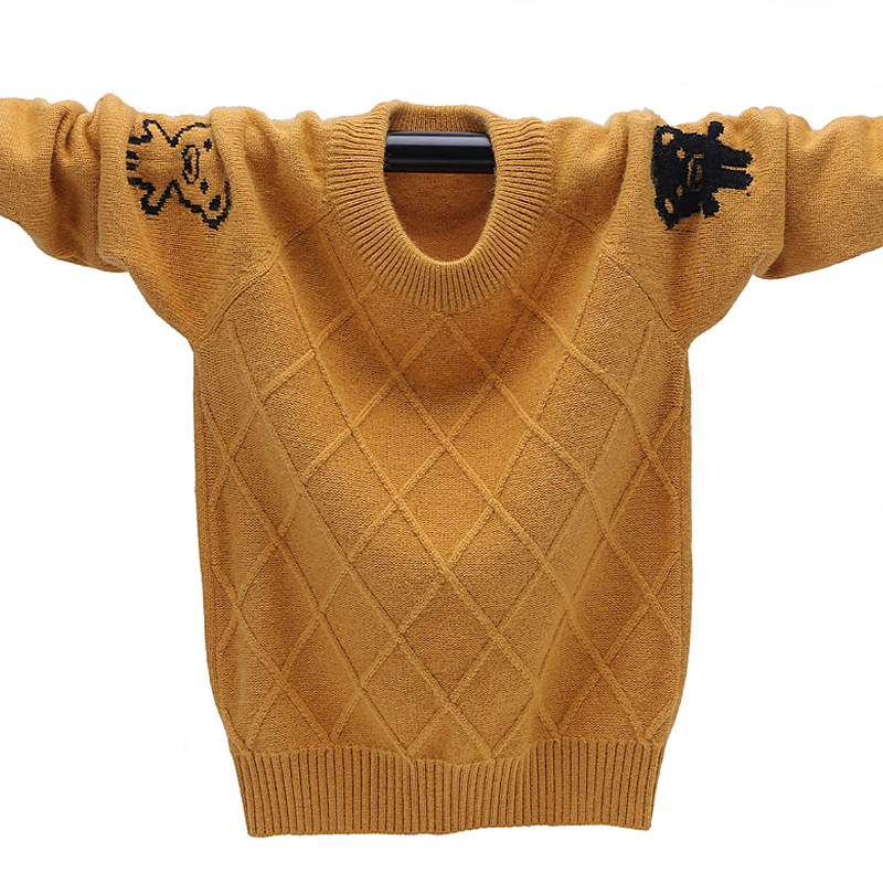 Winter Boys Cardigan Soft Kids Cashmere Sweater Brand Children's Knitting Pattern  Pullover Sweaters Warm Boys Wool Jumper 3-12 sirdar snuggly double knitting baby cardigan pattern