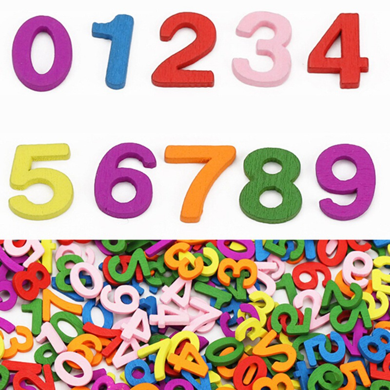 100 Pcs Colorful Wooden Numbers Math Toys Kids Montessori Materials Educational Toys For Children Developing Sensory Toy Gifts