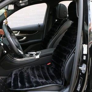Image 2 - 2 個冬豪華な車のシートカバー高級人工ウサギの毛皮の車のシートクッションcloac暖かい美しい