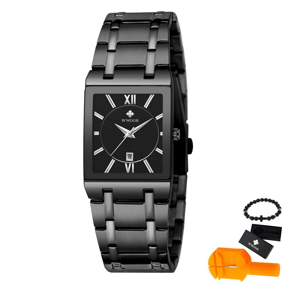 WWOOR zegarki męski modny zegarek 2019 luksusowe pasek ze stali nierdzewnej zegarek Reloj biznes zegar wodoodporny Relogio Masculino|Zegarki kwarcowe|Zegarki -