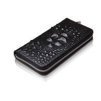 Fashion Alligator Pattern Split Leather Women Wallet Vintage Wallets Ladies Long Crocodile Clutches With Coin Purse