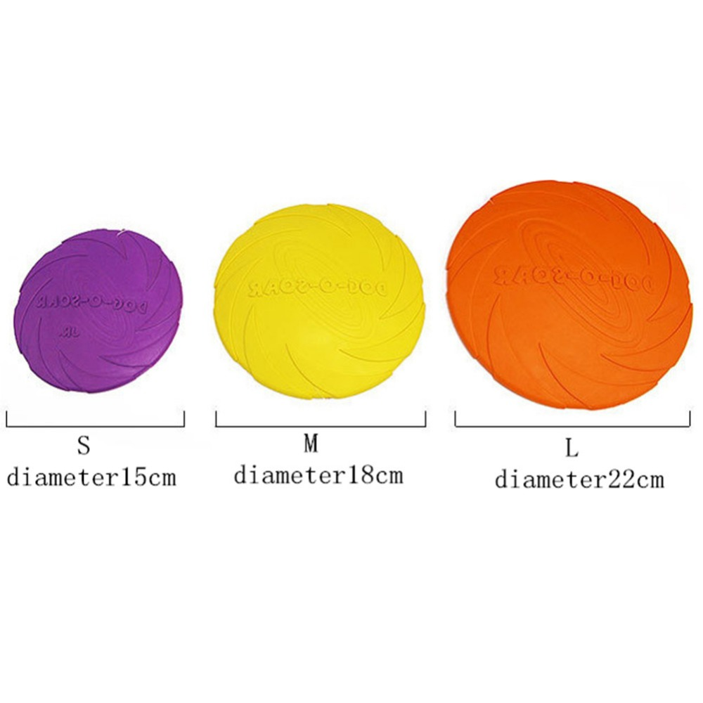 2018 Best selling Pet toys New Large Dog Flying Discs Trainning Puppy Toy Rubber Fetch Flying Disc Frisby 15cm 18cm 22cm 5