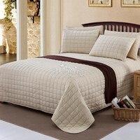 Домашний Текстиль 100% хлопок Роскошные стеганые постельные покрывала стеганые постельные принадлежности простыни