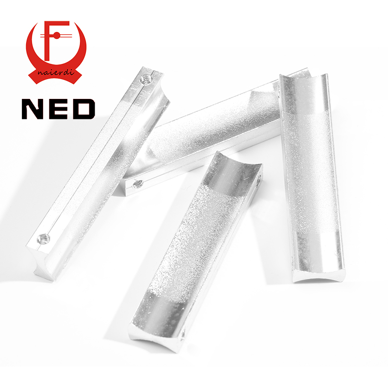 NED 64MM Aluminum Handles Kitchen Door Cupboard Modern Wardrobe Handle Drawer Pulls Cabinets Knobs With Screw Furniture Hardware