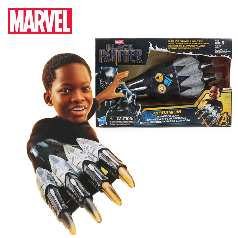 Electronic Original Black Panther Vibranium Power FX Claw Avengers Superhero Paw Cosplay Props Marvel Toy Collection