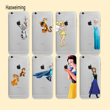 Princess Snow White Cartoon Phone Case For iPhone 5S SE 6 6S X XS Max 7 8 Plus XR Mermaid Tinkerbell Funny Funda