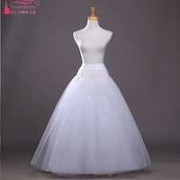 Petticoat for Wedding Retro Crinoline Women 8 layer tulle White Long Petticoats Underskirt without steel ring ZQ009