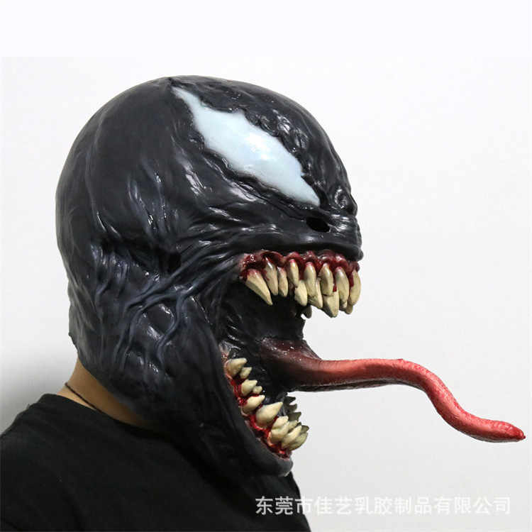 En Zehiri Maskesi Siyah & Kırmızı Cosplay Örümcek Adam Edward Brock Koyu Süper Kahraman Venom Lateks Maskeleri Örümcek Adam Kask Cadılar Bayramı parti Sahne