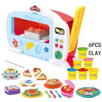 Creative Oven Machine Color Mud Set Wheat Mud Kitchen Series Children Puzzle Education DIY Plastic Mud Kitchen Toys