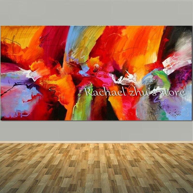 Grande taille peint à la main moderne abstraite brosse technique peinture à l'huile sur toile abstraite mur photo pour salon décor à la maison