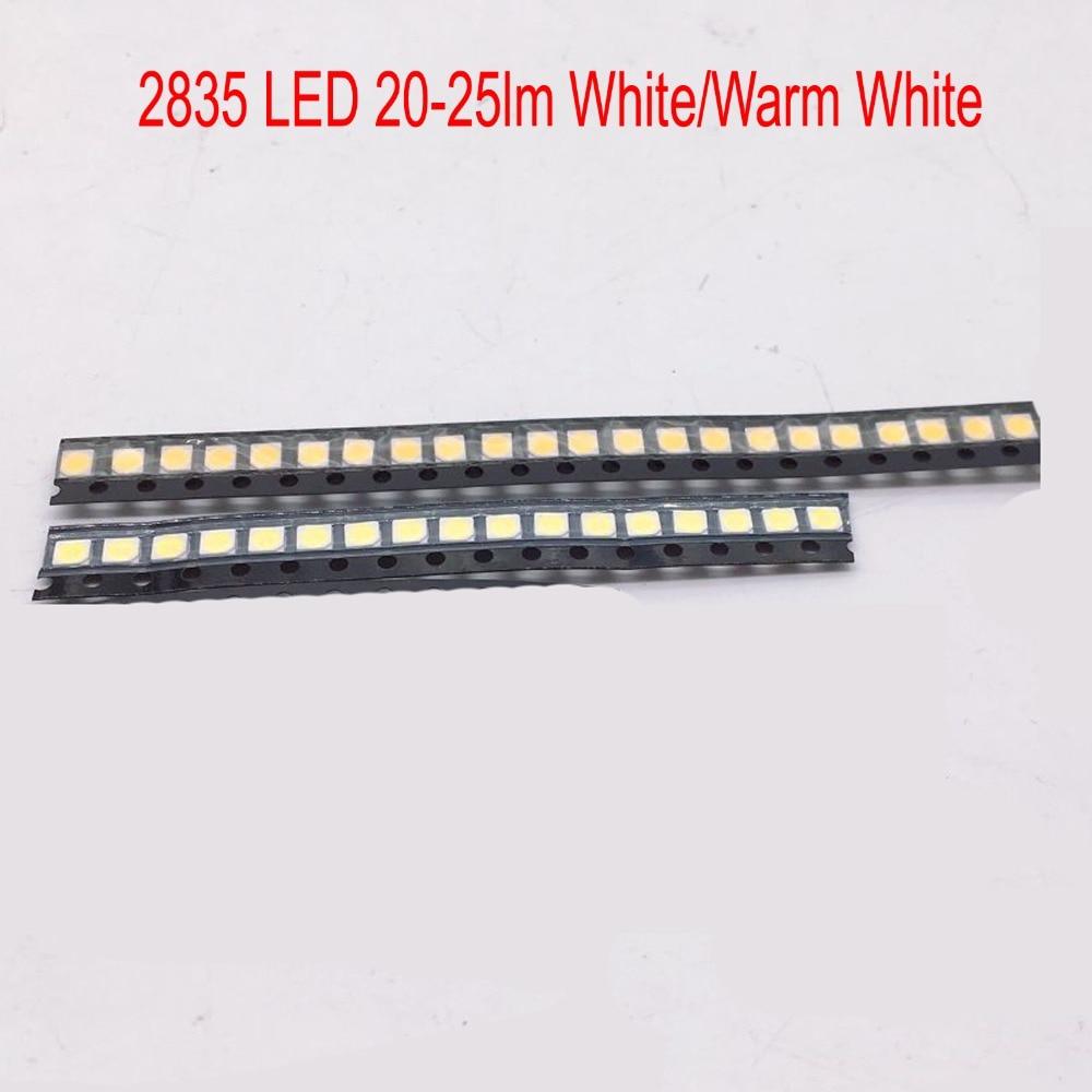 100 pcs 0.2 W SMD 2835 CONDUZIU a Lâmpada Talão 20-25lm Branco/Warm White LED SMD LED Chip Beads DC3.0-3.6V para Todos Os Tipos de DIODO EMISSOR de Luz