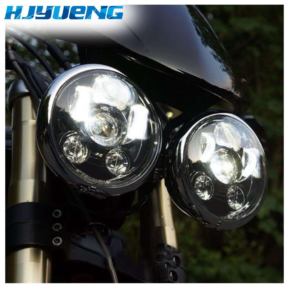 HJYUENG 45w Harley Accessori Moto Harley 5.75 Headlamp motorcycle 5 3/4 led headlight for 2015 Harley Low Rider Led Headlight