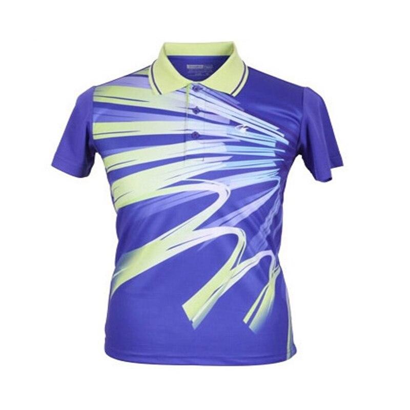 Original Double Fish men Table tennis Badminton sports T-shirt running short breathable fast drying T shirt