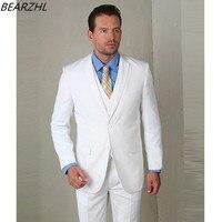 mens suits wedding tuxedo high quality custom men coat wool bleed tuxedos white three piece suits
