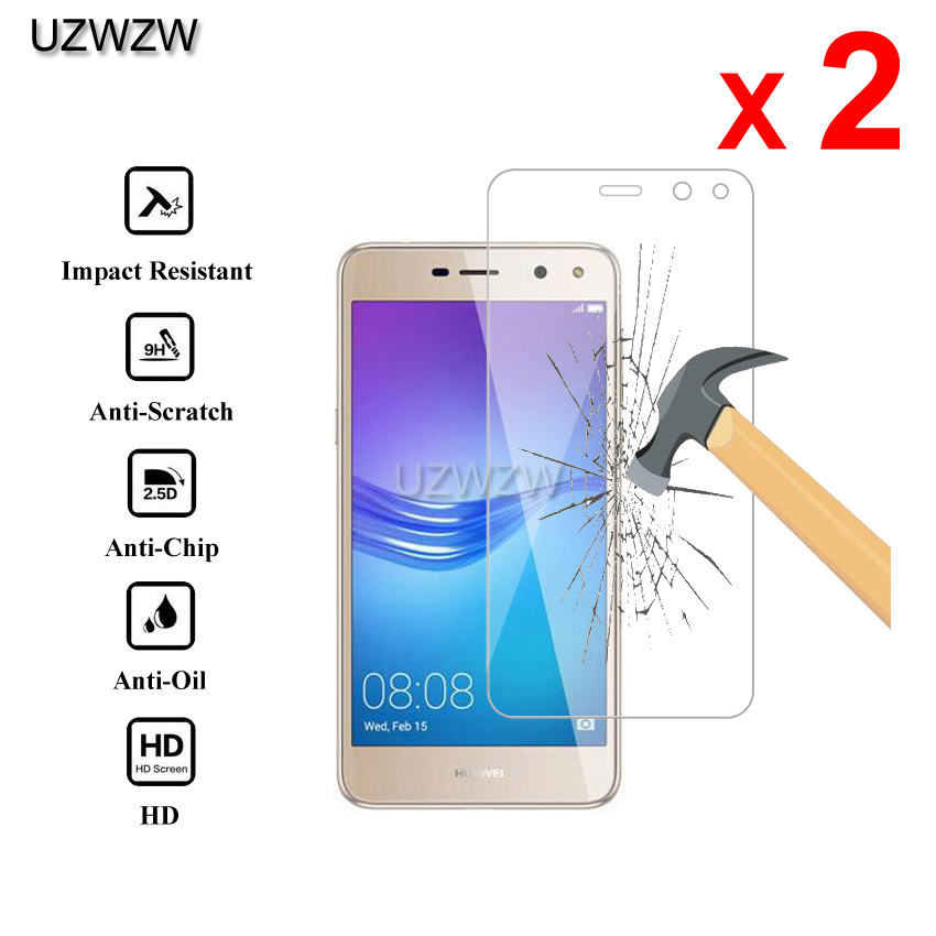 2pcs For Huawei Y5 2017 Premium 2.5D 0.26mm Tempered Glass Screen Protector For Huawei Y5 2017 Protective Glass